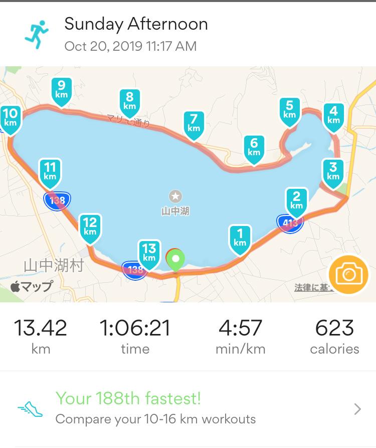 山中湖一周マップ