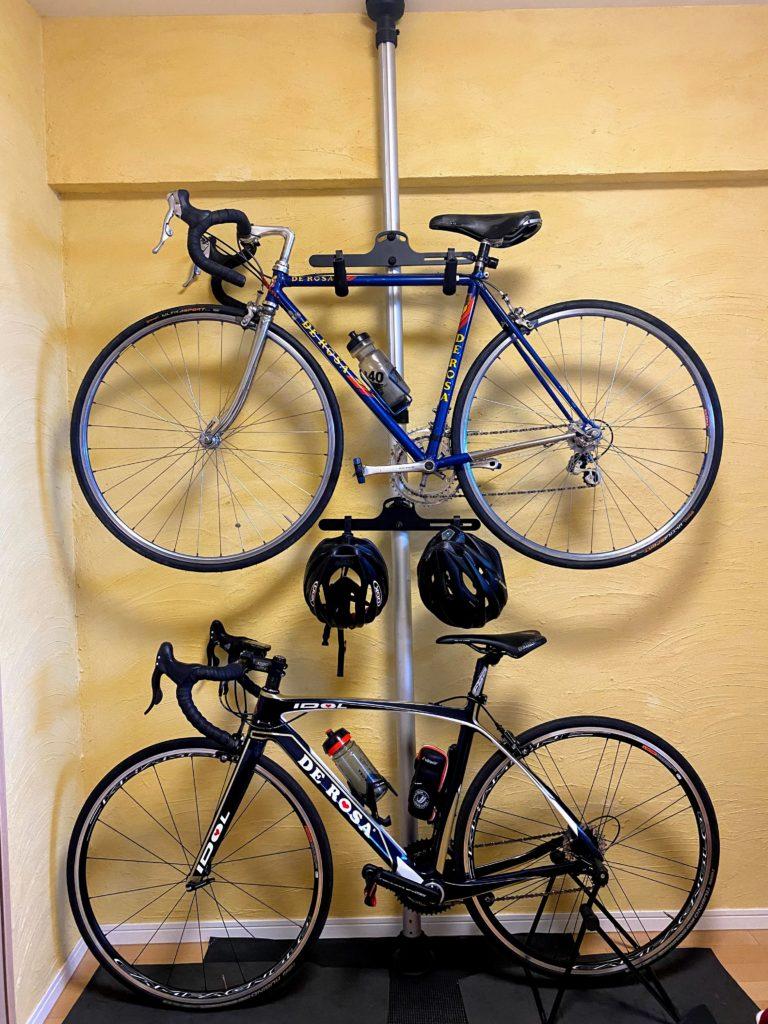ロードバイク保管方法実例