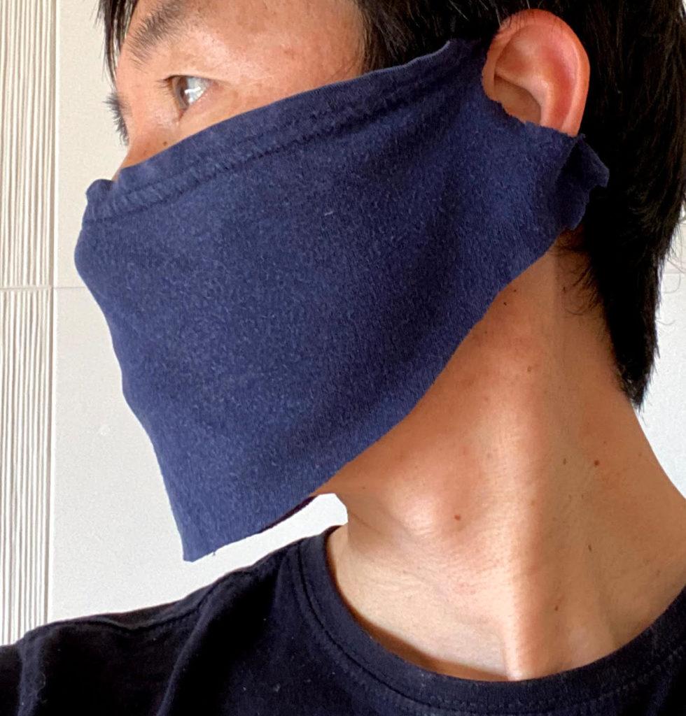 フェイスマスク装着右面