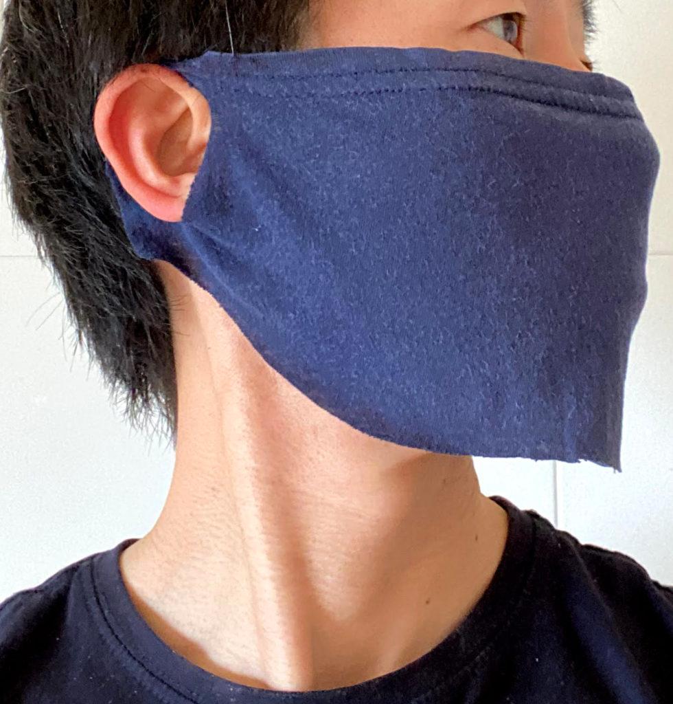 フェイスマスク装着左面